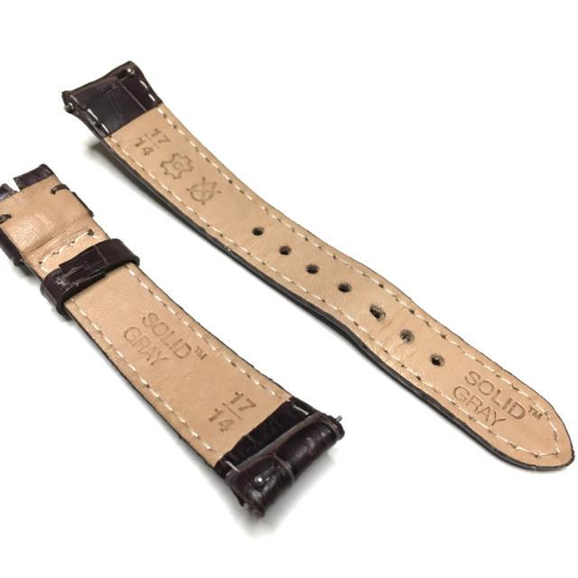 メンズ腕時計 変えベルト ダークブラウン 本革 メンズの時計(レザーベルト)の商品写真