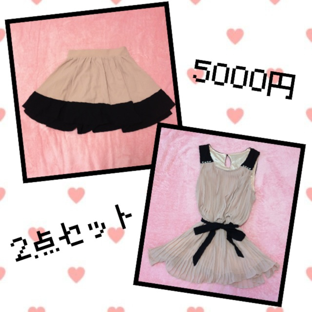 INGNI(イング)のスカート&チュニックセット レディースのスカート(ミニスカート)の商品写真