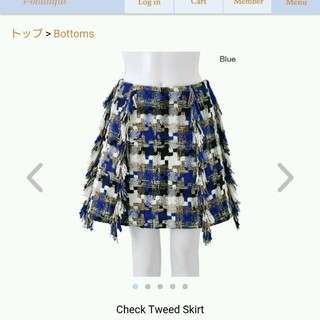 チェスティ(Chesty)のChesty 2016A/W Check Tweed Skirt  (ミニスカート)