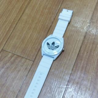 アディダス(adidas)のアディダスラバーウァッチブルー(ラバーベルト)