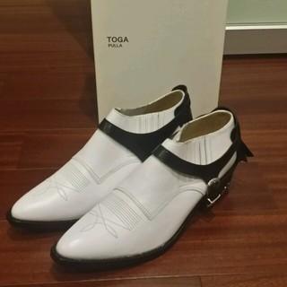 トーガ(TOGA)の【新品未使用品】togaウエスタンショートブーツ40(ローファー/革靴)