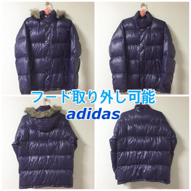 adidas(アディダス)の【ひろさん専用(メリクリ割)】adidas ダウンジャケット パープル(M) レディースのジャケット/アウター(ダウンジャケット)の商品写真