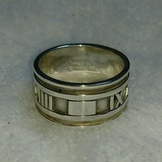 ティファニー(Tiffany & Co.)のティファニー アトラスワイドリング 大きめサイズ 20号 磨き済み中古 (リング(指輪))