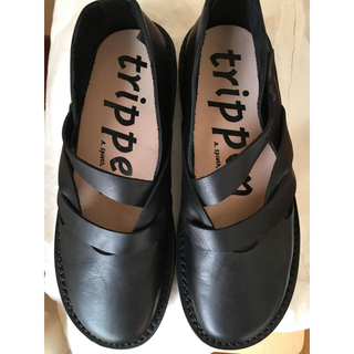 トリッペン(trippen)の[送料込み]trippen size39 ブラックレザーシューズ(ローファー/革靴)