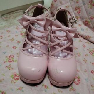 ベイビーザスターズシャインブライト(BABY,THE STARS SHINE BRIGHT)のbaby☆クロスshoes(ローファー/革靴)