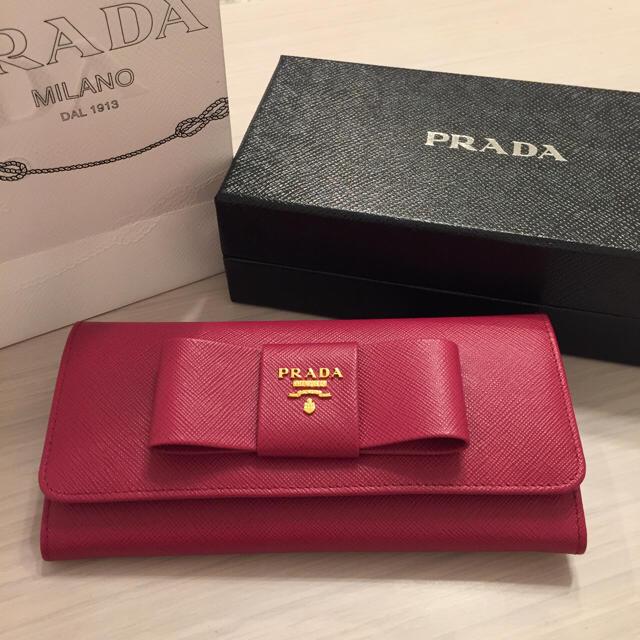 watch 02921 ea3f9 【SHUSHUさま専用】PRADA サフィアーノ リボン財布 | フリマアプリ ラクマ