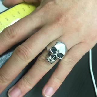 235 重みあり!ゴツくてかっこいい!亀梨和也タイプ髑髏指輪(リング(指輪))