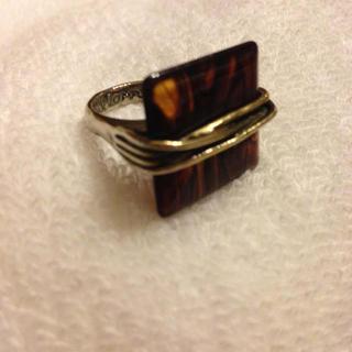 値下げ‼ ブラウン×ゴールドのリング(リング(指輪))