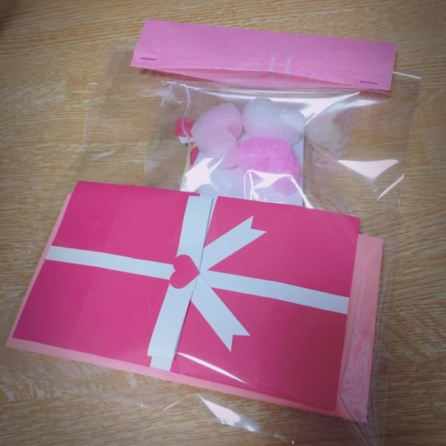 プレゼントボックス ピンク ハンドメイドのハンドメイド その他(その他)の商品写真