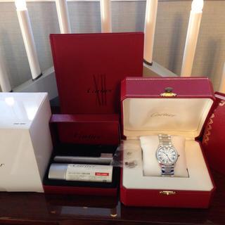 カルティエ(Cartier)のカルティエロンドソロLMクオーツメンズW6701005(金属ベルト)
