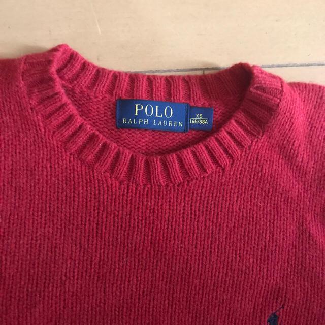 Ralph Lauren(ラルフローレン)のラルフローレン 赤ニット 試着のみS-M レディースのトップス(ニット/セーター)の商品写真