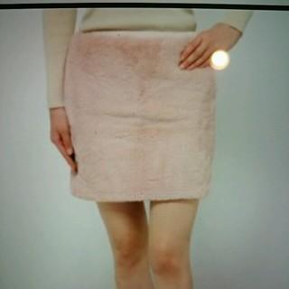 ニーナミュウ(Nina mew)のNina mew ニーナミュウ フェイクファースカート ピンク色(ミニスカート)