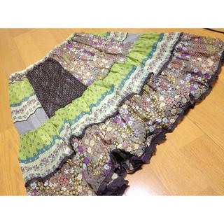 シンシア(cynthia)のpukuのシフォンスカート(ひざ丈スカート)