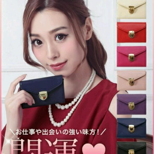Tikaゴールドボタンシンプル名刺入れ♡新品未使用♡ メンズのファッション小物(名刺入れ/定期入れ)の商品写真