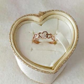 ピンクゴールド ハートリング(リング(指輪))