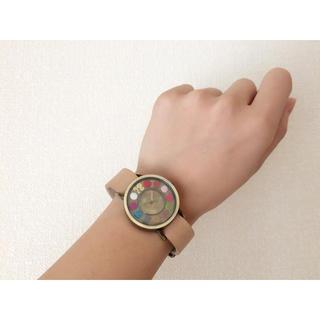 サマンサモスモス(SM2)の文字盤フェルト時計(腕時計)