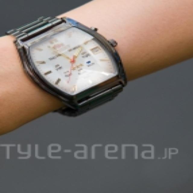 ORIENT(オリエント)のORIENT*スリースター*ブラック レディースのファッション小物(腕時計)の商品写真