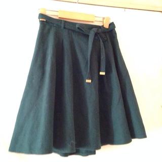 プーラフリーム(pour la frime)の♥︎緑のスカート♥︎(ひざ丈スカート)