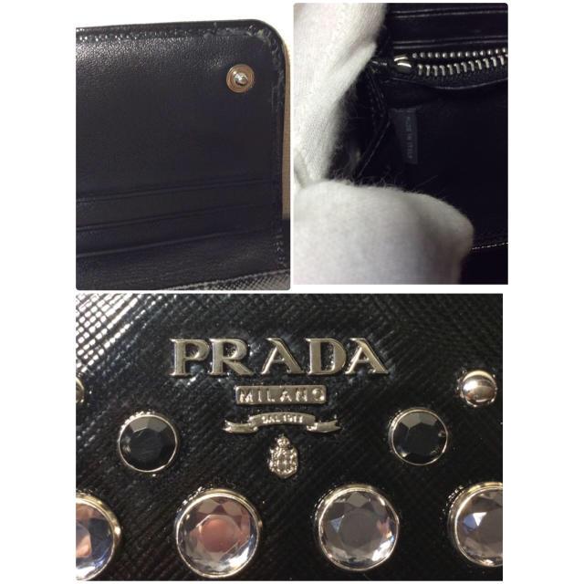 deac41ed43b5 PRADA - 【PRADA】ライーンストーンスタッズ長財布1M1132/年末セール ...