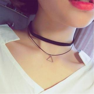 2連チョーカー△三角付き△ネックレス(ネックレス)