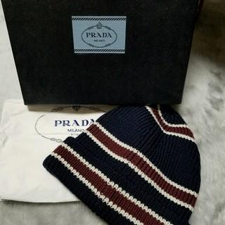 プラダ(PRADA)の正規品☆新品未使用 PRADAニット帽(ニット帽/ビーニー)