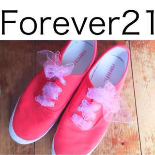 フォーエバートゥエンティーワン(FOREVER 21)のForever21 ピンクスニーカー(スニーカー)
