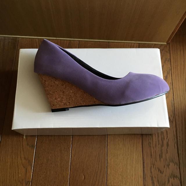 〔なー様専用〕【未使用】パープル パンプス レディースの靴/シューズ(ハイヒール/パンプス)の商品写真