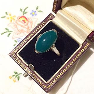ヴィンテージ♠︎昭和レトロな緑石のリング⋆*クロチェ ete マザー お好きな方(リング(指輪))