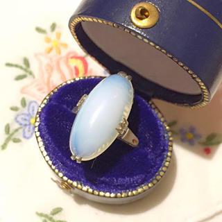 ヴィンテージ♡ピンクの虹が浮かぶ乳白色の指輪⋆アガット エテ アーカー 好きな方(リング(指輪))