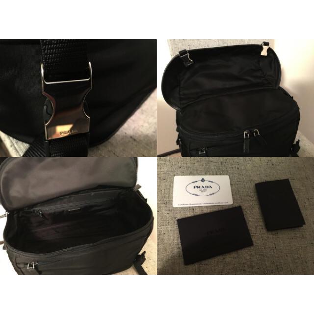 5b4bff3f8550 PRADA(プラダ)の新品本物プラダPRADAメンズショルダーボディバッグ黒ブラックメンズ