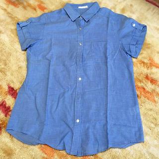 ジーユー(GU)の◆半袖シャツ◆レディース GU Mサイズ(シャツ/ブラウス(半袖/袖なし))