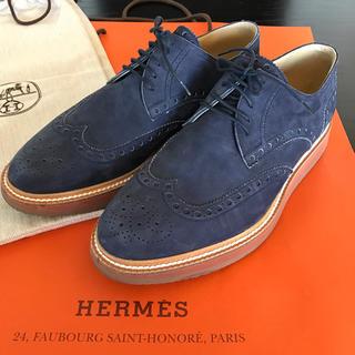 エルメス(Hermes)のエルメス メンズ ウイングチップ レザーシューズ 40(ドレス/ビジネス)