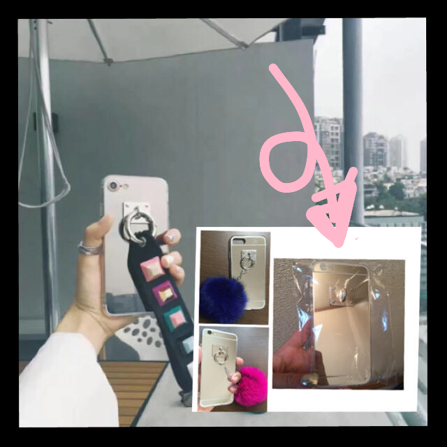 新品 iPhone 6 6S ケース カバー ミラー 鏡 チャーム 付け替えの通販 by mk96毎日値下げ中✌︎('ω')✌︎|ラクマ
