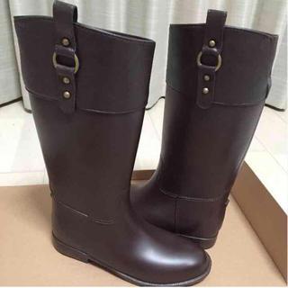 レインブーツ ラバーブーツ ブラウン 新品 梅雨 雨対策 雪対策(レインブーツ/長靴)