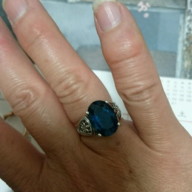 K10 ロンドンブルートパーズ リング レディースのアクセサリー(リング(指輪))の商品写真