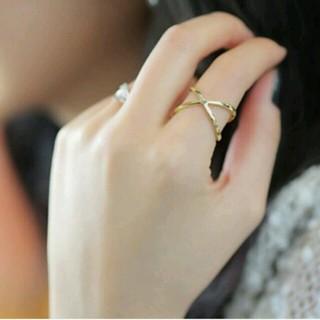 クロス シンプル リング ゴールド 13号 (リング(指輪))