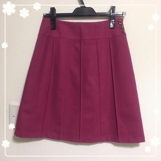 ハニーズ(HONEYS)のミントさま専用♡美品ウール綺麗色スカート(ひざ丈スカート)