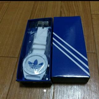 アディダス(adidas)のアディダスラバーウァッチブルー腕時計(ラバーベルト)