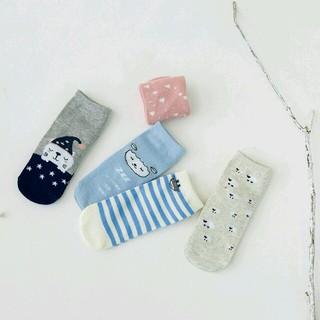petitnats❤キッズ靴下 おやすみクマ 5足組 新品〔QH4-S〕(靴下/タイツ)