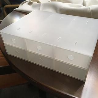 ムジルシリョウヒン(MUJI (無印良品))の無印 小物収納ボックス6段(ケース/ボックス)