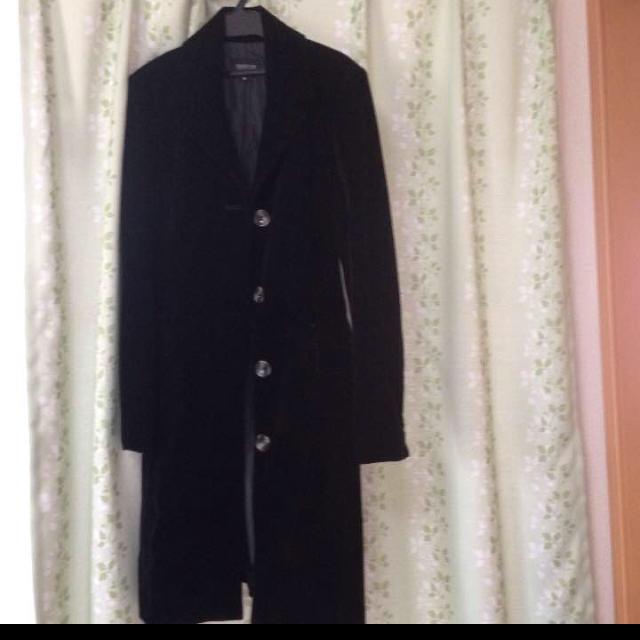 引越しのため明日処分 試着のみ!コート ブラックフォーマル お宮参 レディースのジャケット/アウター(ロングコート)の商品写真