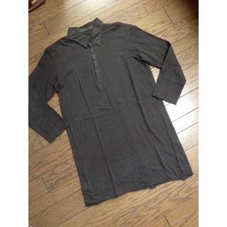 エヌフォー(N4)の美品N4 7分丈デザインカットソー 日本製(Tシャツ/カットソー(七分/長袖))