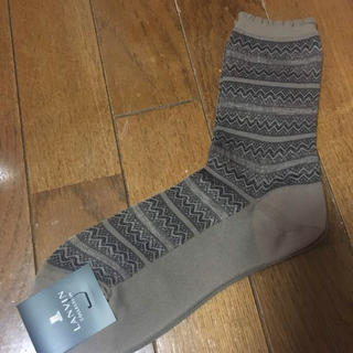 LANVIN(ランバン)の新品 LANVIN 靴下 レディースのレッグウェア(ソックス)の