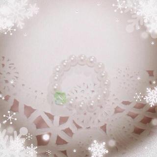 パールの指輪(グリーン)  ハンドメイド(リング(指輪))