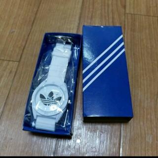 アディダス(adidas)のアディダスラバーウァッチブラック 腕時計(ラバーベルト)