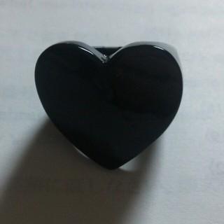 チュチュア(tutuHA)のブラックハートリング(リング(指輪))