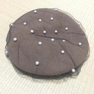 カシラ(CA4LA)のCA4LA チュールパールベレー帽(ハンチング/ベレー帽)