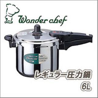ワンダーシェフ(ワンダーシェフ)の格安!値下げ!ワンダーシェフ(Wonder chef) レギュラー圧力鍋 6L(鍋/フライパン)