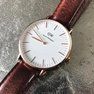 ダニエルウェリントン(Daniel Wellington)のDaniel Wellington 腕時計 すもーくちーず様専用♪(レザーベルト)