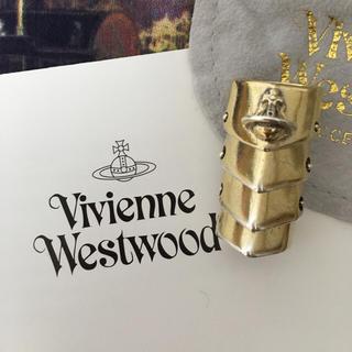ヴィヴィアンウエストウッド(Vivienne Westwood)の保証書付 旧型ゴールドアーマーリング (リング(指輪))